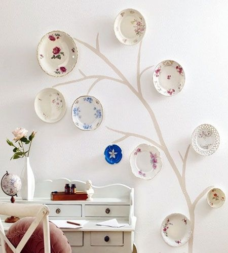 Decorating with Plates on the Wall
