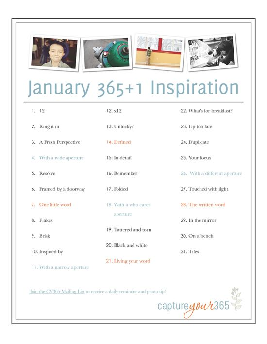 JanuaryList2012