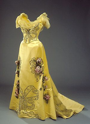ca. 1898, Charles Frederick Worth. This dress belonged to Queen Alexandrine of Denmark, married in 1898 to King Christian.