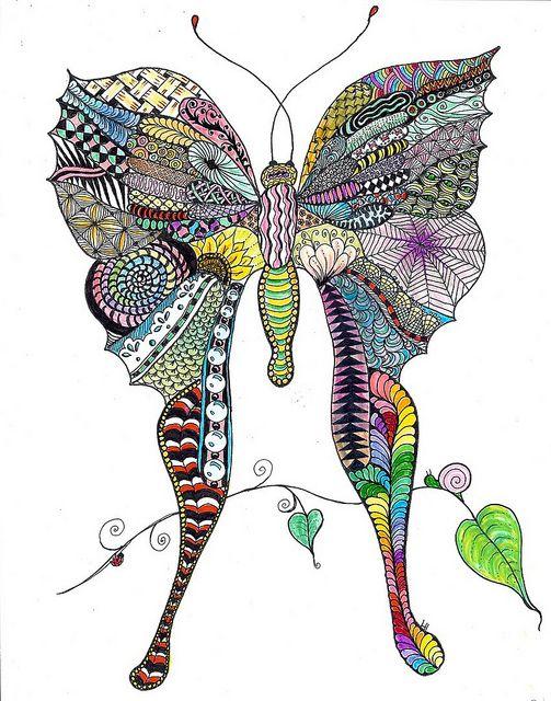Zentangle Butterfly