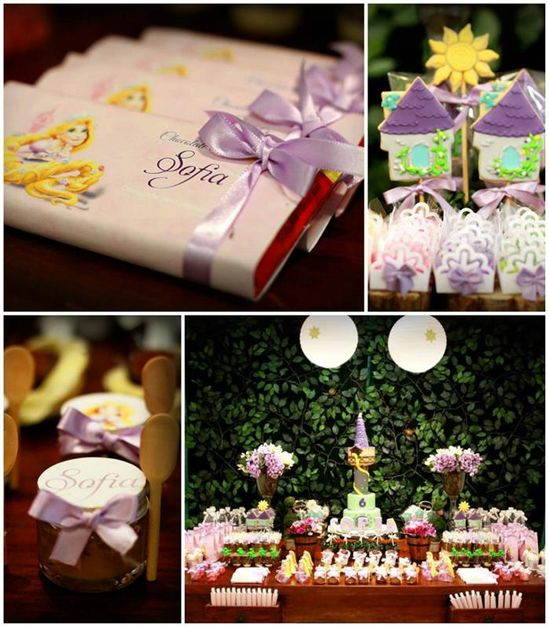 Tangled Themed Birthday Party with Lots of Cute Ideas via Kara's Party Ideas
