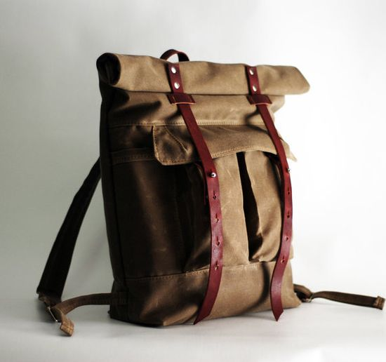The Camper Satchel in Tan Waxed Canvas by sketchbook on Etsy, $200.00