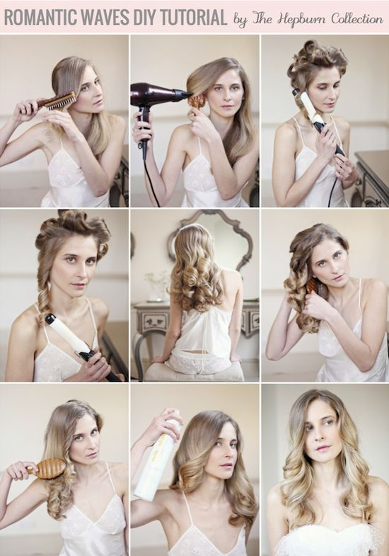 Romantic Waves Hair Tutorial By The Hepburn Collection