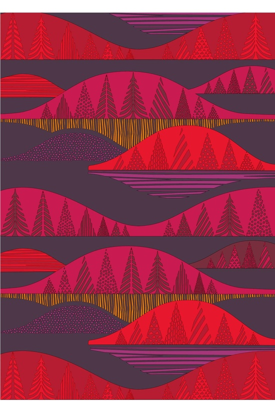Kultakero organic cotton fabric design, Marimekko.