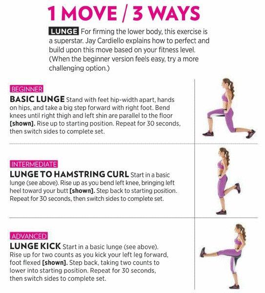1 lunge workout 3 ways