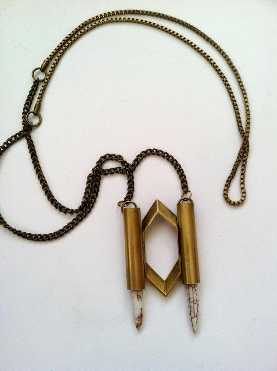Geometric jewelry.