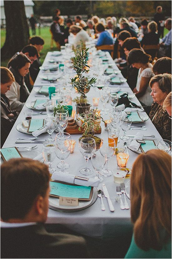 lovely natural setting outdoor wedding reception