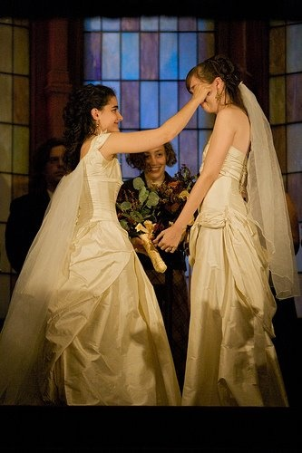 Tears of joy. #Lesbian #wedding #beautiful #samelove #marriageequality