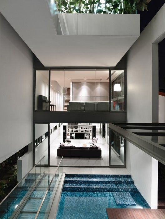 Jln Angin Laut - open roof interior by Hyla Architects