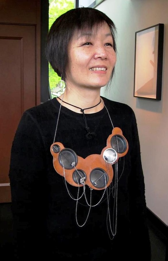 COLLECTIONNEUSE !!!  Nancy Yoneyama is 50 today... with Seth Papac necklace (velvet da Vinci)