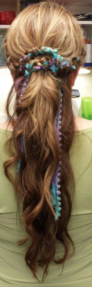 Yarn braided hair