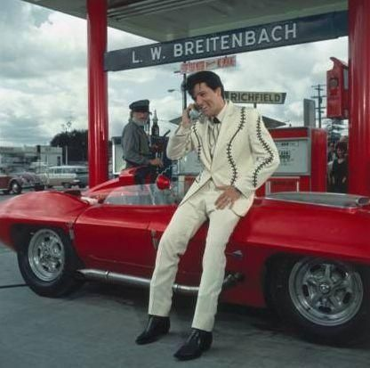 Elvis and a Corvette #celebritys sport cars #sport cars #luxury sports cars