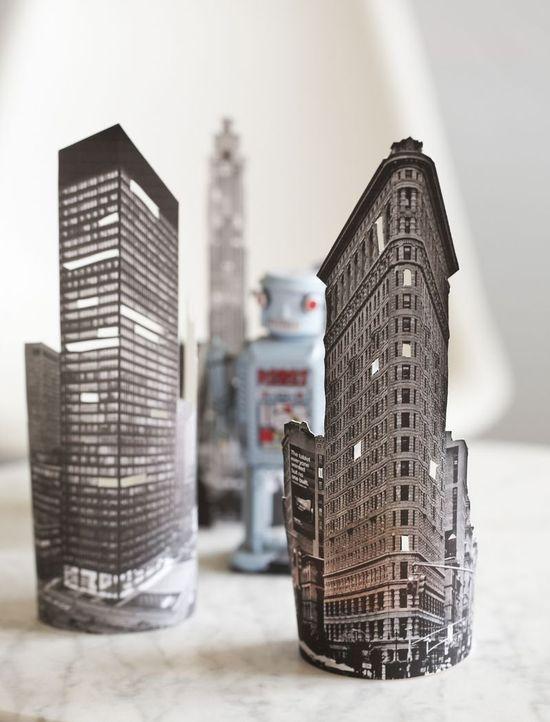 #DIY tutorial #paper city lights glowing skyline  Love it !