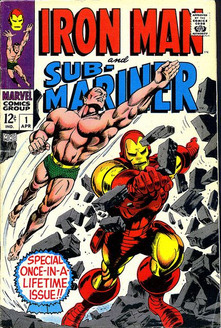 Iron Man & Sub-Mariner 1 1967 cover by Gene Colan