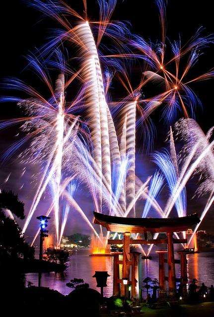 Fireworks at Epcot theme park , Walt Disney World Resort, Orlando, Florida