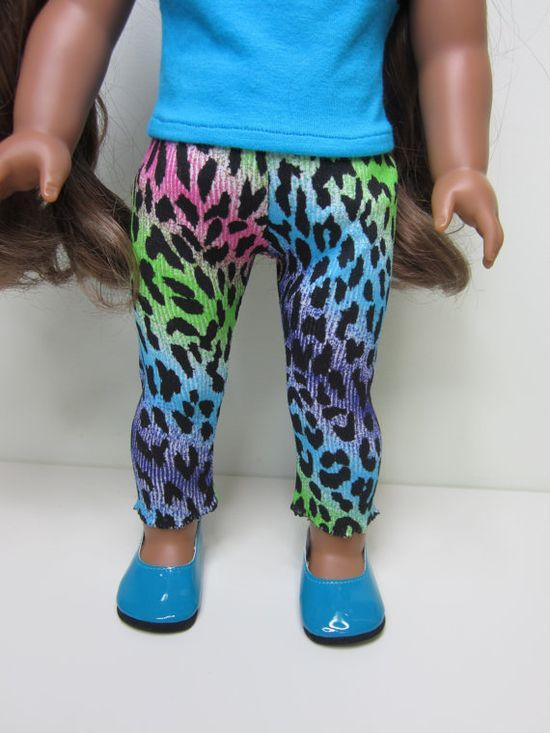 American Girl doll clothes  funky multi coloured by JazzyDollDuds, $7.00