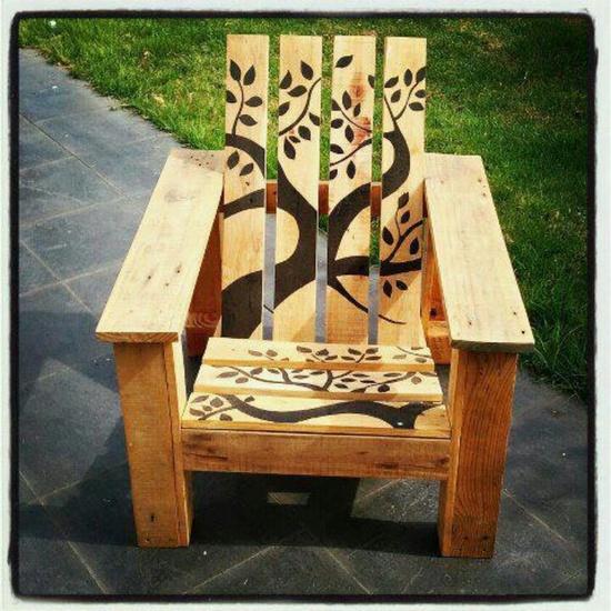 Decoratеа Garden Chair from Pallet