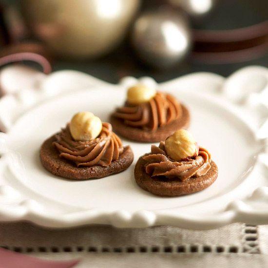 Chocolate-Hazelnut Mousse Cookies