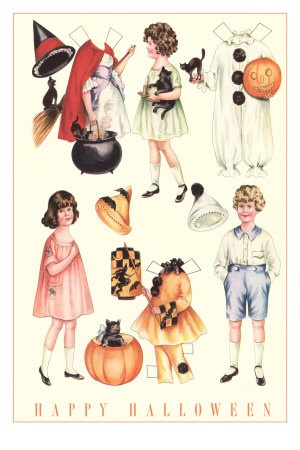 Halloween outfits for Paper Dolls