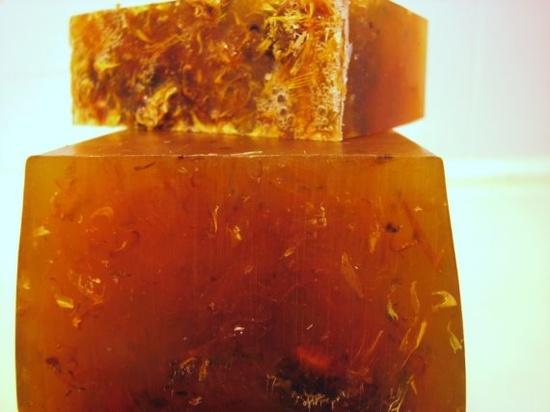 honeysuckle calendula glycerin soap