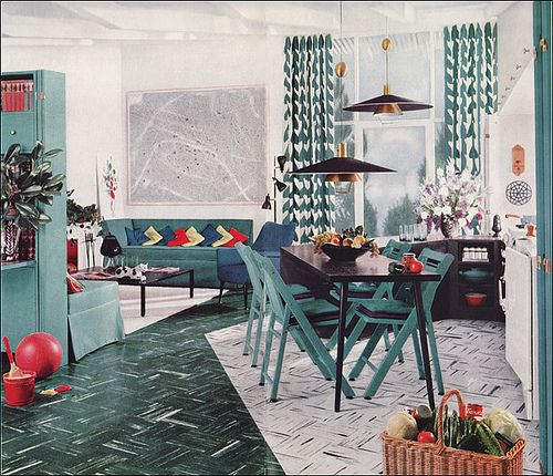 1950s Modern Design - Living Room by Armstrong by American Vintage Home, via Flickr