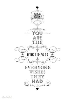 you are the friend