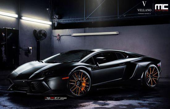 Sharp Matte Black Lamborghini Aventador