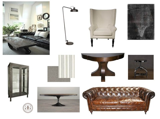 greige: interior design ideas and inspiration for the transitional home : industrial in the office..