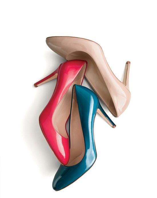 J.Crew glossy heels.
