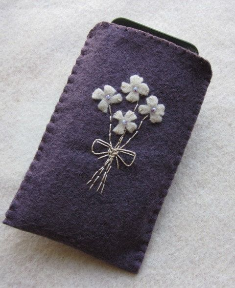 Iphone Ipod Cellphone Camera Case Felt by Martianique on Etsy, $18.00