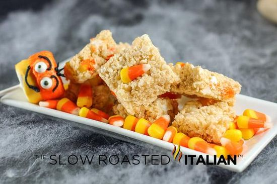 Halloween Recipes : Candy Corn Rice Krispies Treats