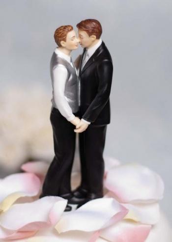 """Romance"" Gay Wedding Cake Topper"