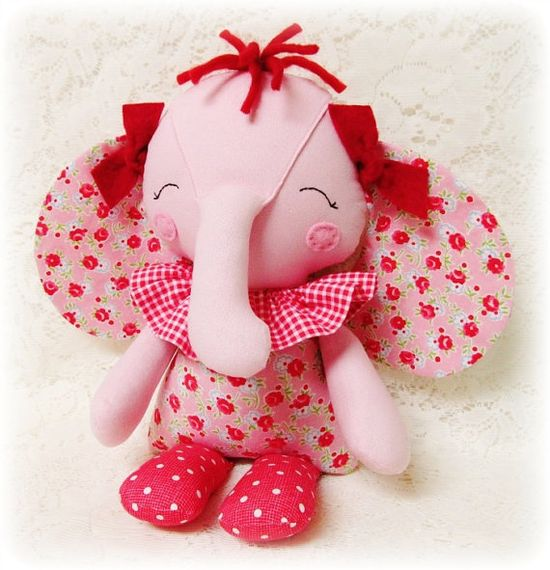 Elephant Softie Pattern Soft Doll Pattern Toy by OhSewDollin, $10.00