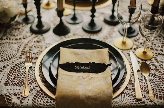 Black & Gold Wedding Inspiration