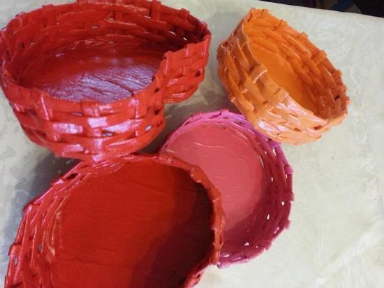 Handmade Paper Baskets