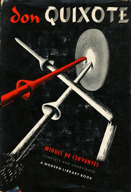Don Quixote book jacket by E. McKnight Kauffer