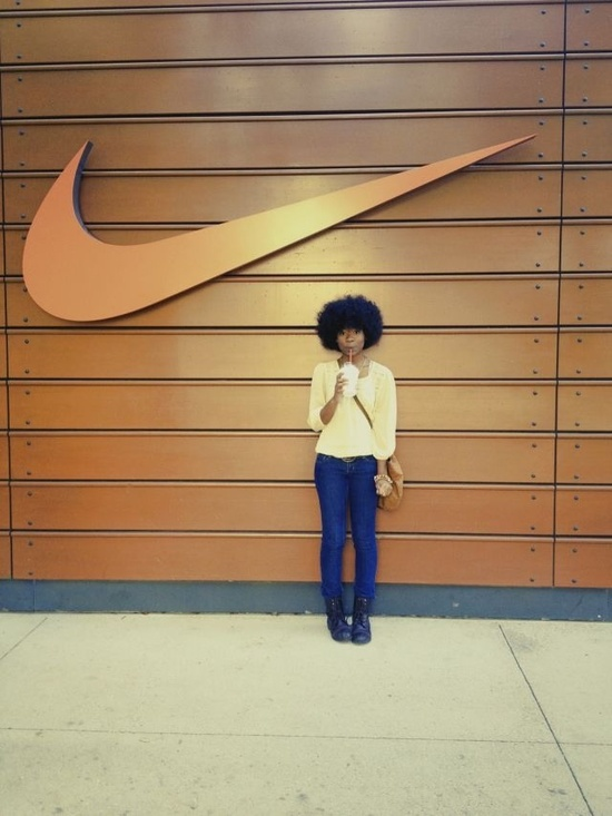 She found the right symbol without saying it.  #justdoit?