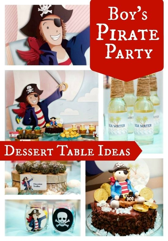 Beautiful birthday party ideas for a boy's pirate themed party www.spaceshipsand...