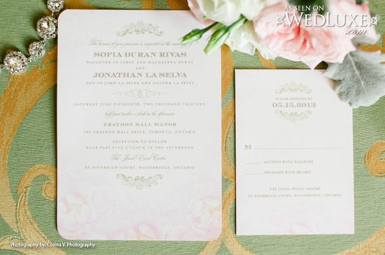 WedLuxe: wedding stationery by wedding paper divas.