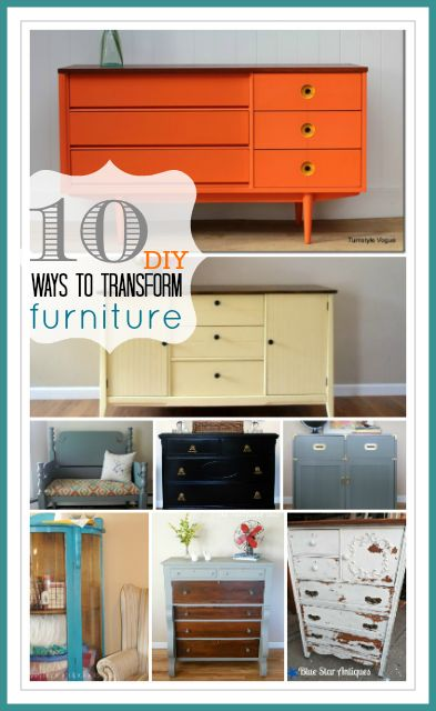 10 Amazing Furniture Makeovers... Easy ways to transform your old furniture! WOWZERS!