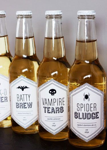 Printable Halloween Beverage Labels also has Printable Halloween Treat Boxes