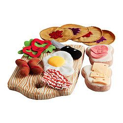 for my niece! Duktig Toy Breakfast Set: 15 pieces from IKEA for $4.99.