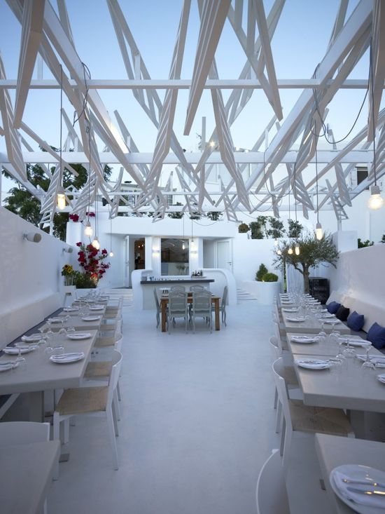 Phos Restaurant In Mykonos Town , Greece by LM Architects