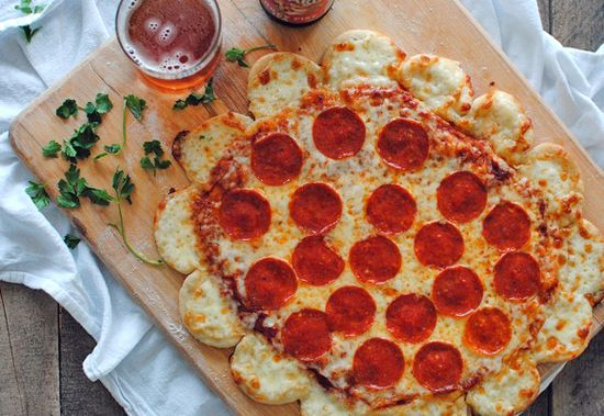 Crazy Cheese Crust Pizza