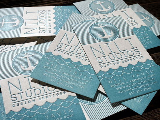 letterpress business cards by MikeGalore, via Flickr