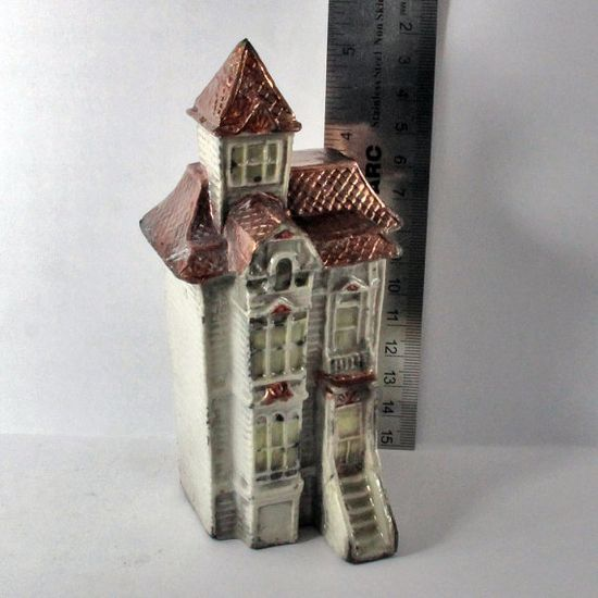 Raku Handmade House 5 Inches Tall Hollow Row House by oscarcrow, $16.00