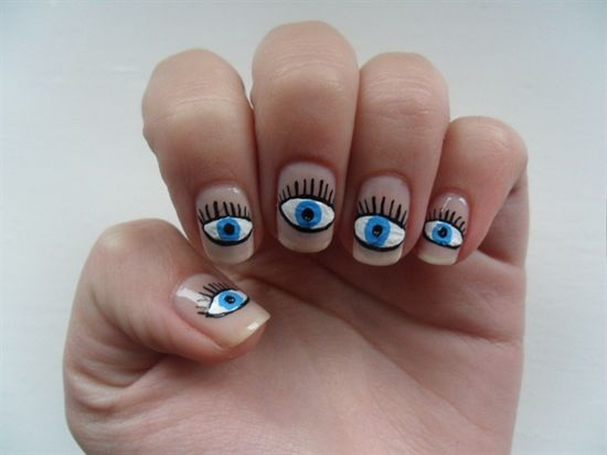 Eye nails - Nail Art Gallery by NAILS Magazine