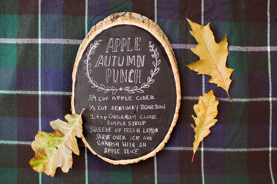 Drink/Decor Idea Autumn Apple Punch #anthropologie #pintowin  Read more - www.stylemepretty... #Friendsgiving