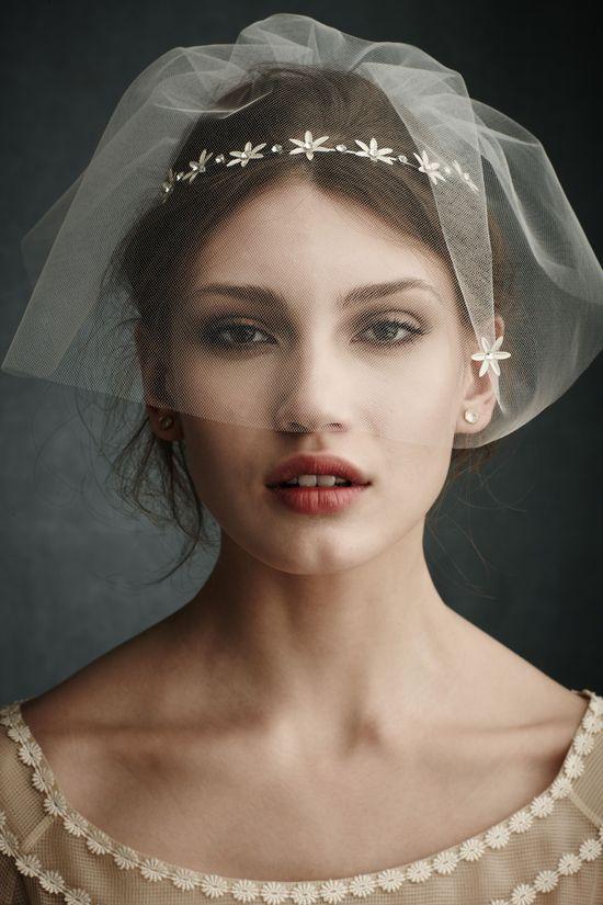 8 Glam Wedding Hair Accessories - @BHLDN Weddings