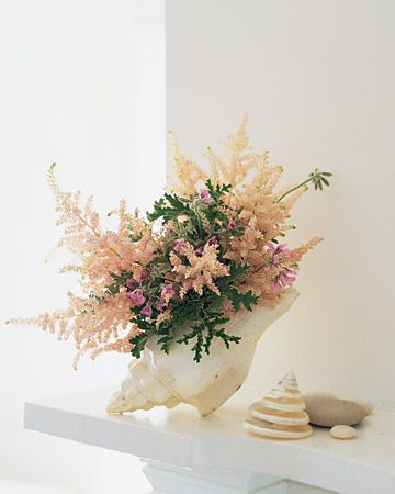 How-To  Flower Arrangement in a Seashell